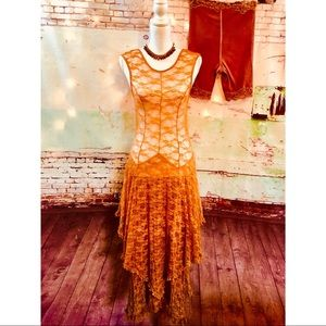 FREE PEOPLE INTIMATELY CUSTOM DYED LACE DRESS